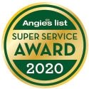 TK Roofing And Gutters was named an Angie's List Super Service Award winner for 2020