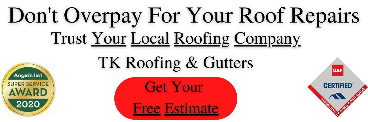 Trust the local roofers at TK Roofing and Gutters