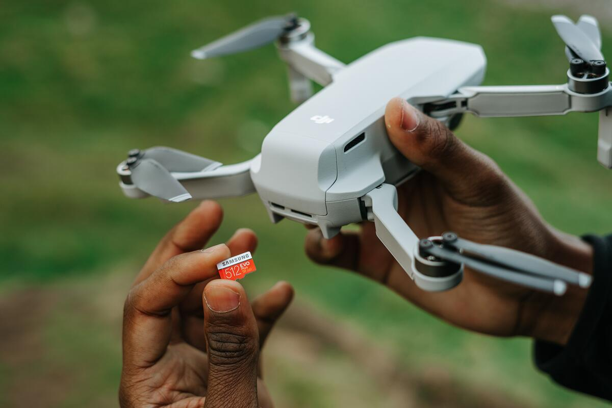 Our residential roofers use drones to help inspect your roof